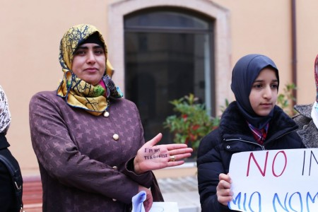 musulmani contro isis not in my name no in mio nome terrorismo islam foto ap (23)