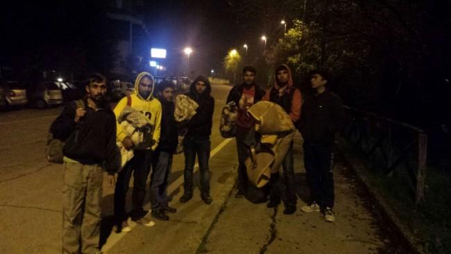 Migranti la scorsa notte in via Prezzolini
