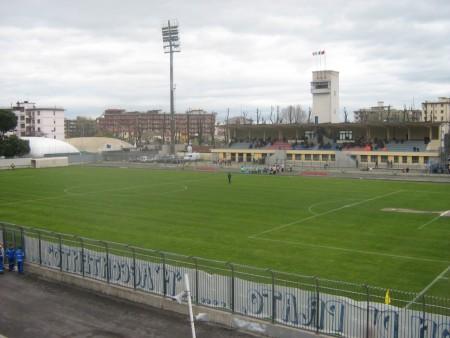 Lo stadio Lungobisenzio di Prato