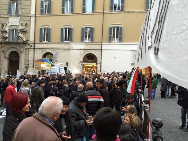 Manifestazione Roma Banca Marche
