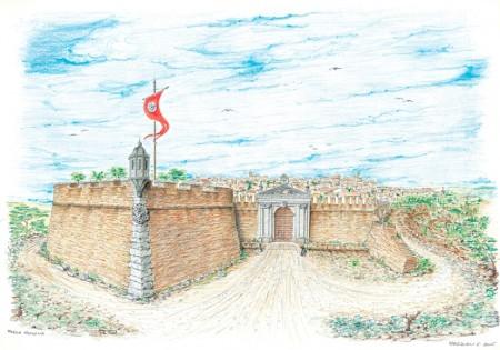 Gianfranco Pasquali - Porta San Salvatore (I Cancelli) alla fine del sec XVI