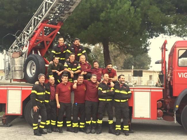I vigili del fuoco di Civitanova per la festa di Santa Barbara