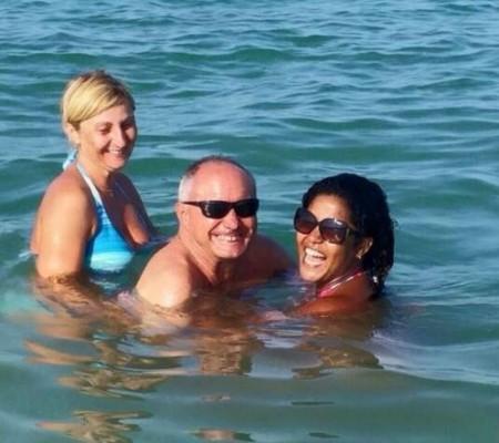 Giorgio Massetani con la sua cara Alina e Jenny