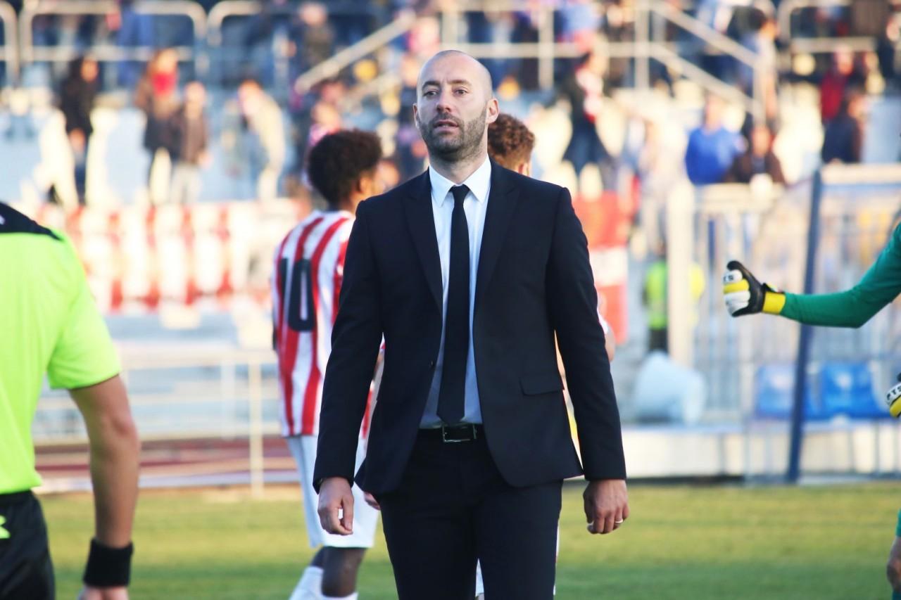 Cristian Bucchi al termine di Maceratese-Arezzo