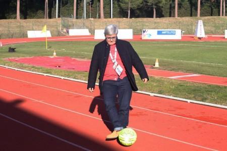 Maria Francesca Tardella domenica scorsa allo stadio