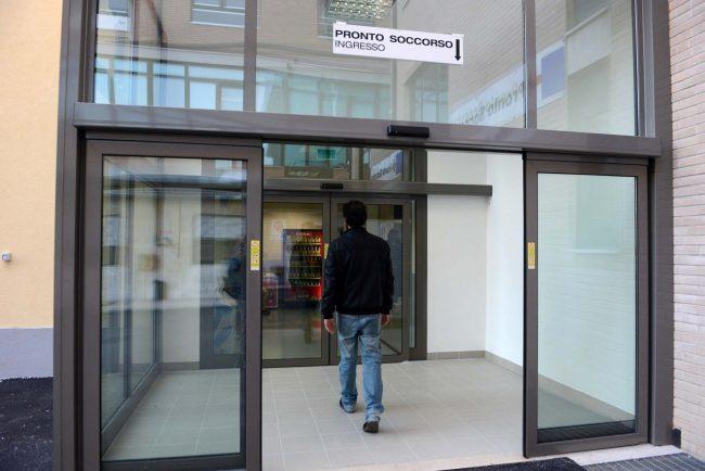 L'ingresso del nuovo pronto soccorso di Civitanova
