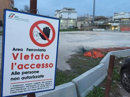 L'area ex Ceccotti chiusa dalla Depositi & Vendite