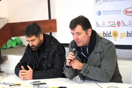 Il ds Giulio Spadoni e l'ad Marco Nacciarriti a fine gara in sala stampa
