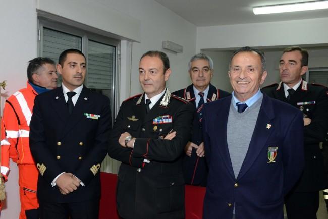 Il capitano Enzo Marinelli della Compagnia dei carabinieri di Civitanova alla festa dei pompieri