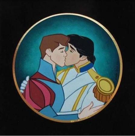 bacio gay disney