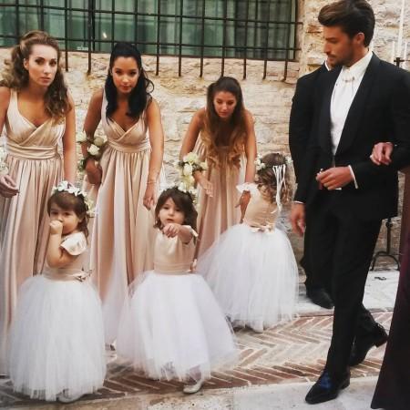 Le damigelle al matrimonio di Eleonora Brunacci
