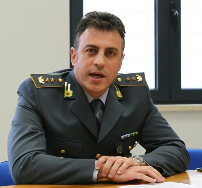 Il colonnello Andrea Magliozzi che comanda il Nucleo di polizia tributaria di Macerata