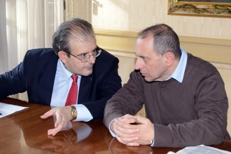 Ivo Costamagna e il sindaco Tommaso Corvatta