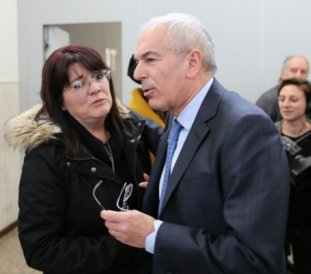 Il procuratore Giovanni Giorgio con Ave Palestini, vedova di Pietro Sarchiè