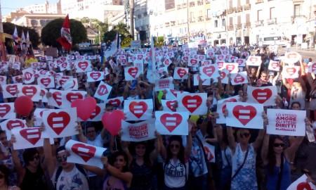 Una manifestazione per i diritti civili