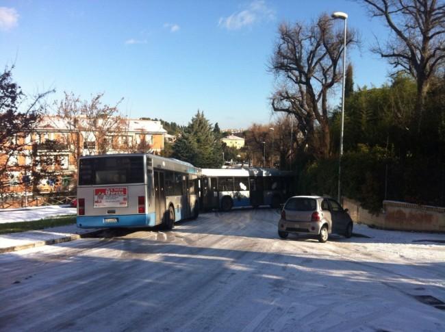 autobus intraversato a Collevario 2
