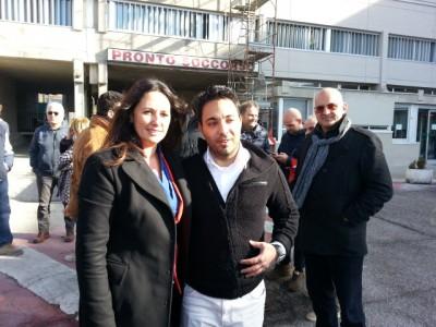 Barbara Cacciolari con Roberto Pioli