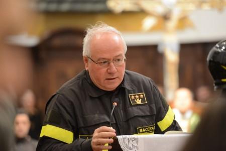 Achille Cipriani, comandante dei vigili del fuoco di Macerata