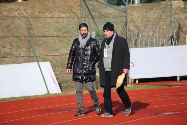 Spadoni e Nacciarriti a colloquio a fine gara contro la Lupa Roma