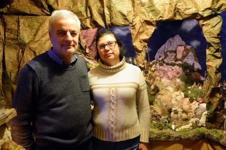 Iginio Melappioni con sua moglie Bice Sbrascini