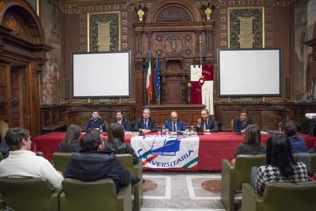 Da sinistra a destra Francesco Carelli, Vittorio Guastamacchia, Giuseppe Rivetti, Gennaro Sangiuliano, Gerardo Villanacci, Fabio Pistarelli