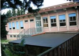 L'attuale sede della scuola Enrico Medi