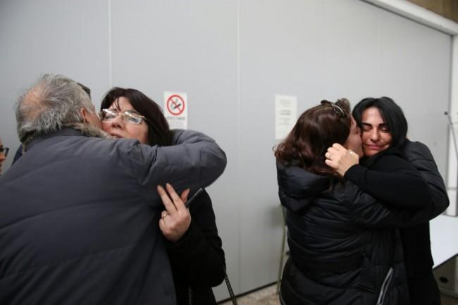 I familiari di Sarchié dopo la sentenza