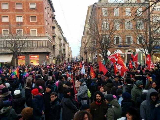 La manifestazione a Ancona