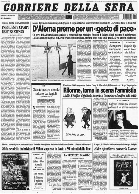 1999_05_16 Corriere della Sera_ 1a pag
