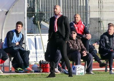 L'allenatore della Maceratese Cristian Bucchi