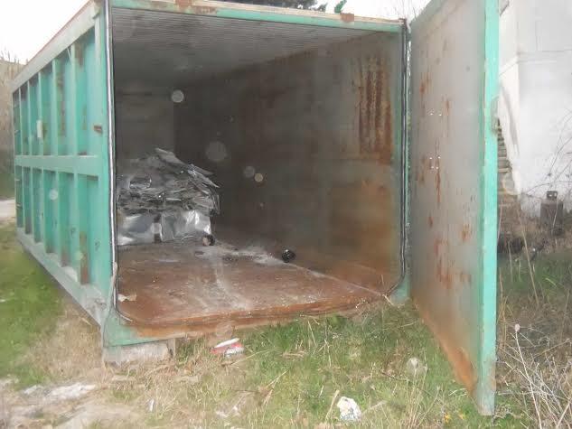 Uno dei container puliti