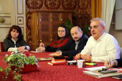 Gli assessori Marcolini e Ricotta con il sindaco Carancini