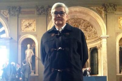 La presidente della Maceratese, Maria Francesca Tardella, a Palazzo Vecchio per la cerimonia