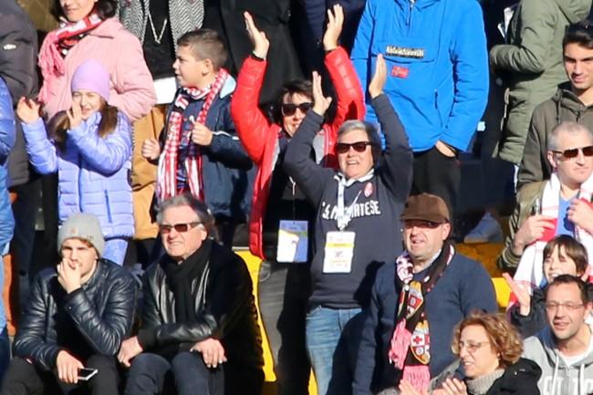 La presidente Tardella ha seguito il match in gradinata
