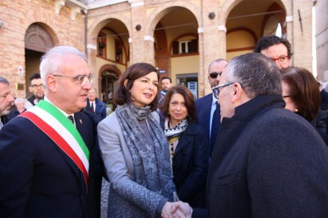 La visita di Laura Boldrini questa mattina a Macerata