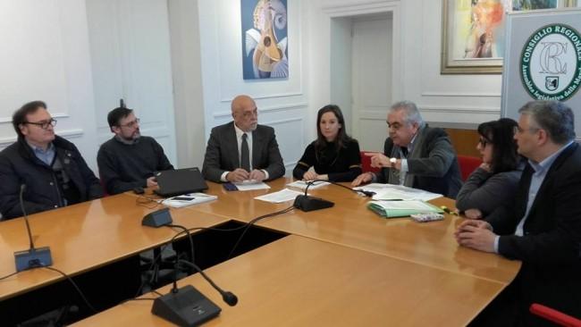 I partecipanti alla conferenza stampa di stamattina