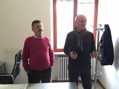 Il dirigente Scarpecci con l'assessore Postacchini