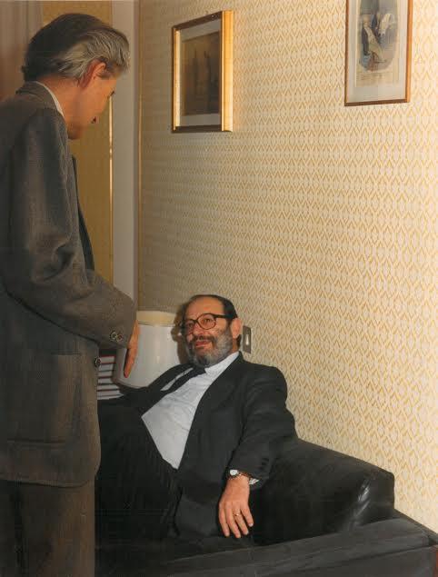 Il professor Sàndor Petofi con Umberto Eco