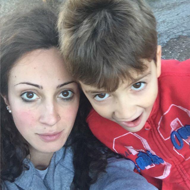 Laura Paoletti con il piccolo Giosuè