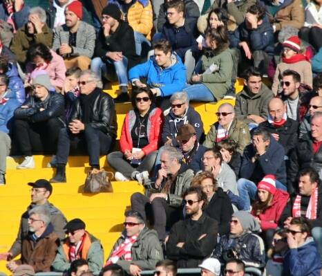 Maria Francesca Tardella ha assistito al derby in gradinata