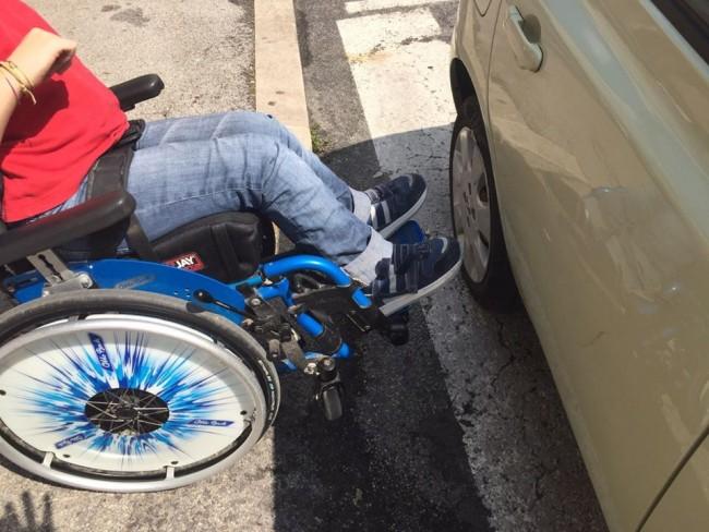 mobilità sedia a rotelle parcheggio