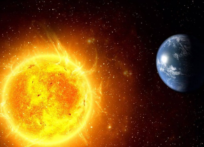 Il sole e la terra (foto d'archivio)