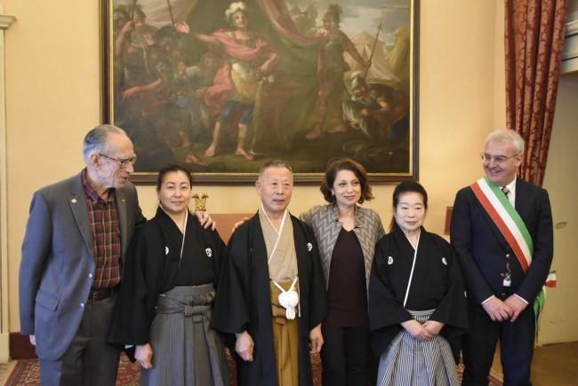 visita giapponese maestro di spada prefettura carancini preziotti pianesi macrobiotico macerata qq