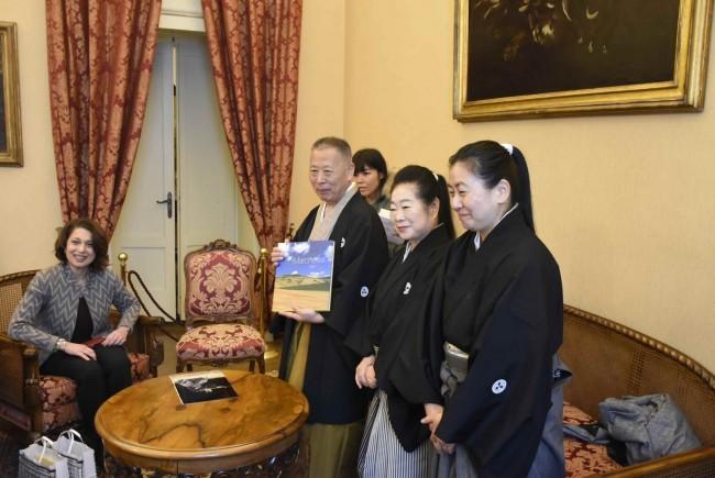 visita giapponese maestro di spada prefettura carancini preziotti pianesi macrobiotico macerata ww
