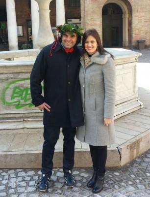 Emanuele Ciabocco con la fidanzata Sara Pasquini