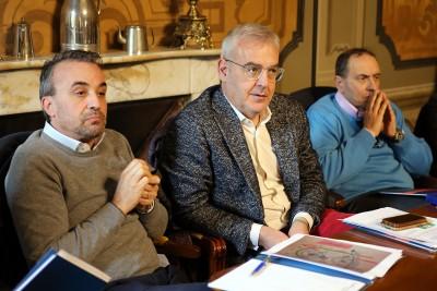 Il sindaco di Macerata Romano Carancini e il sindaco di Civitanova Tommaso Corvatta