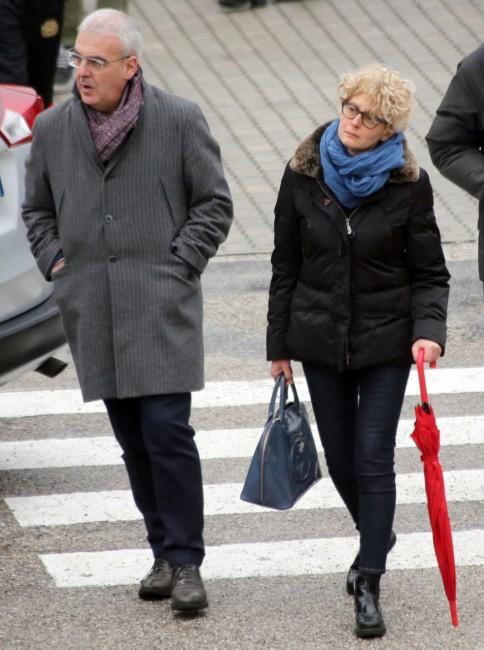 Il sindaco Romano Carancini con la moglie Betty Torresi