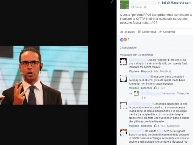 I tanti messaggi dei tifosi della Maceratese contro Criscitiello, Sportitalia e la signora Bucchi