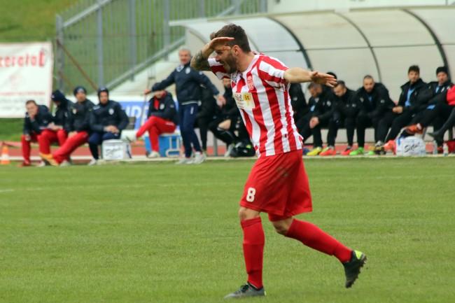Fabio Foglia, protagonista assoluto della vittoria della Maceratese