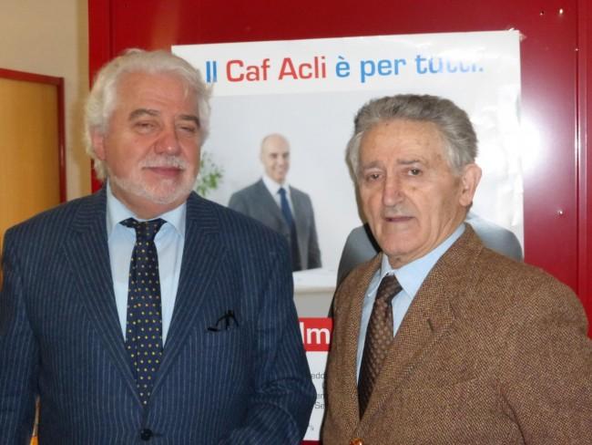 Inaugurazione Caf Acli Macerata (2) renato lapponi flaviano fabbroni